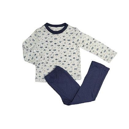 Pijamas Excelente Calidad Fk Pantalon Elefante Azul