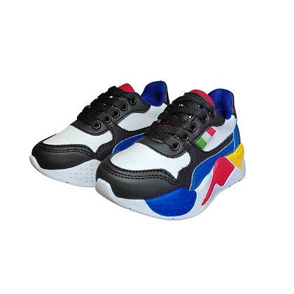 Zapatos Tenis Para Niños Tetris FK Azul Rojo