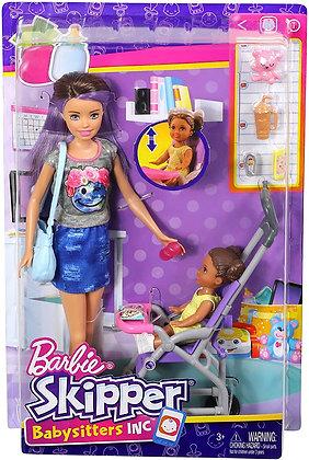 Barbie Skipper Niñera De Paseo Babysitters Muñeca