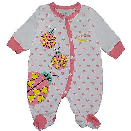 Pijama Sesgada Niña Sueñitos Rosado Oscuro