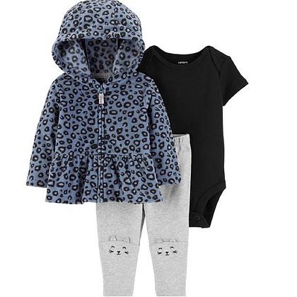 Conjunto 3 Pzs Leopardo Azul