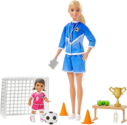 Muñeca Barbie Entrenadora De Fútbol Entrenamiento You Can Be