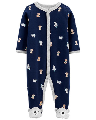 Pijama Carters Koala Azul Marino Y Gris