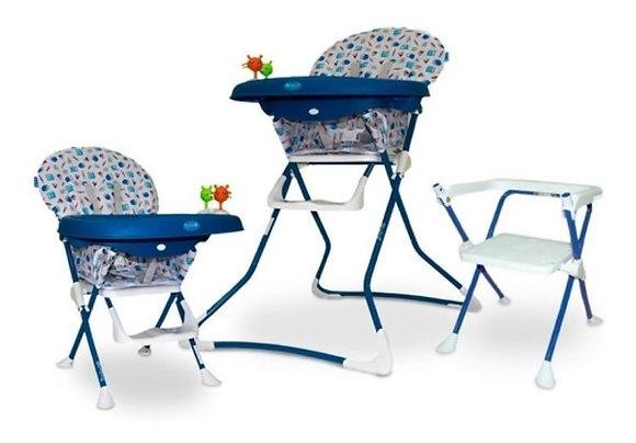 Silla Comedor Ebaby 3 En 1 Convertible En Silla Azul