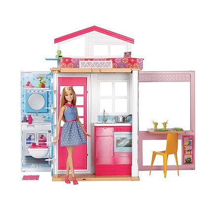 Casa De 2 Pisos Con Muñeca Barbie