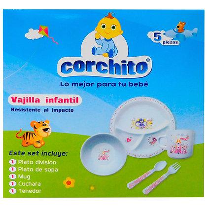 Vajilla Infantil Corchito