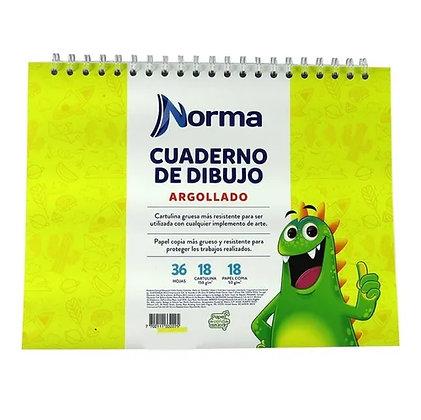 Cuaderno De Dibujo Norma Argollado 36 Hojas 18 Cartulina
