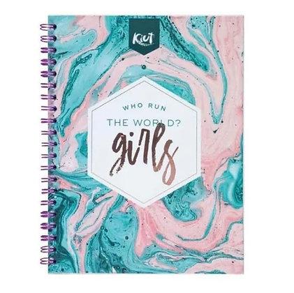 Cuaderno Argollado Cuadriculado Kiut 160 Hojas 5 Materias