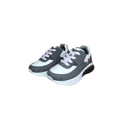 Zapatos Tenis Para Niños Válvula Gris FK