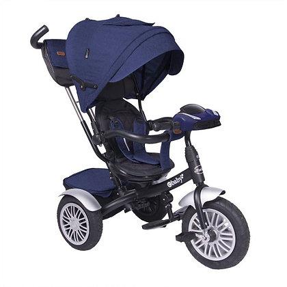 Triciclo Paseador Para Bebe Niño Zoe Ebaby Nuevo Modelo Azul