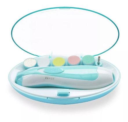 Cortauñas Eléctrico Para Bebe Lima De Uñas 6 Cabezales + Luz Azul