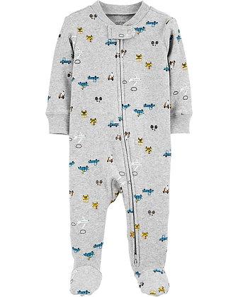 Pijama Carters Carro Gris