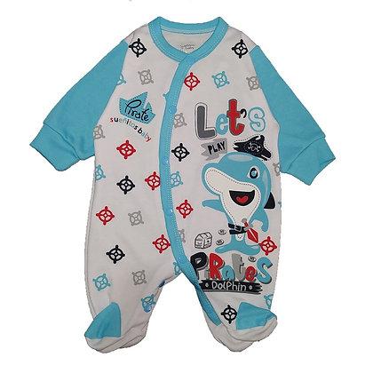 Pijama Sesgada Niño Sueñitos Azul