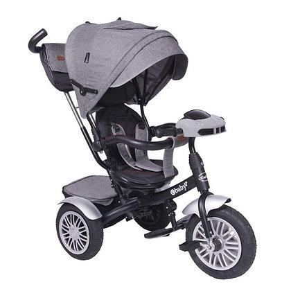 Triciclo Paseador Para Bebe Niño Zoe Ebaby Nuevo Modelo Gris