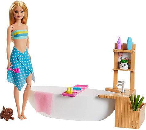 Barbie Baño De Espuma Burbujas Original Incluye Accesorios