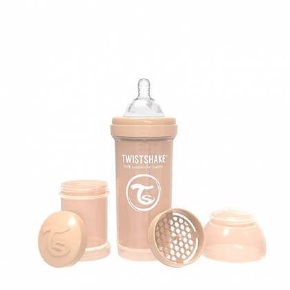 Tetero Anticolico Twistshake 8oz 260ml Beige