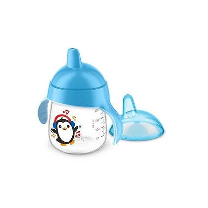 Vaso Avent Pingüino Entrenador 9oz 260ml 12m+ Azul