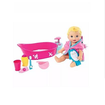 Muñeca Little Mommy Baño De Burbujas