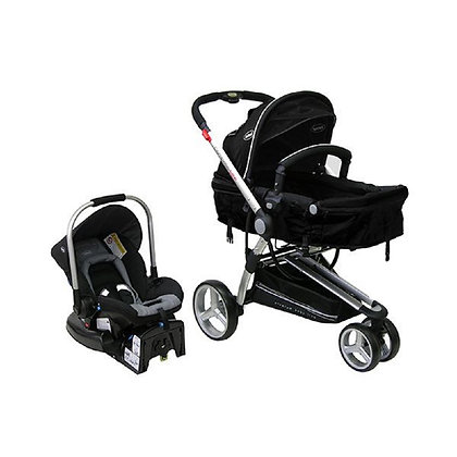 Coche Travel System Compass Negro Bebesit