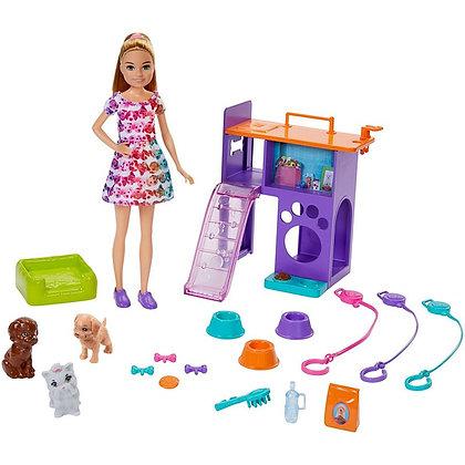 Barbie Team Stacie Cuidado Y Entrenamiento De Mascotas