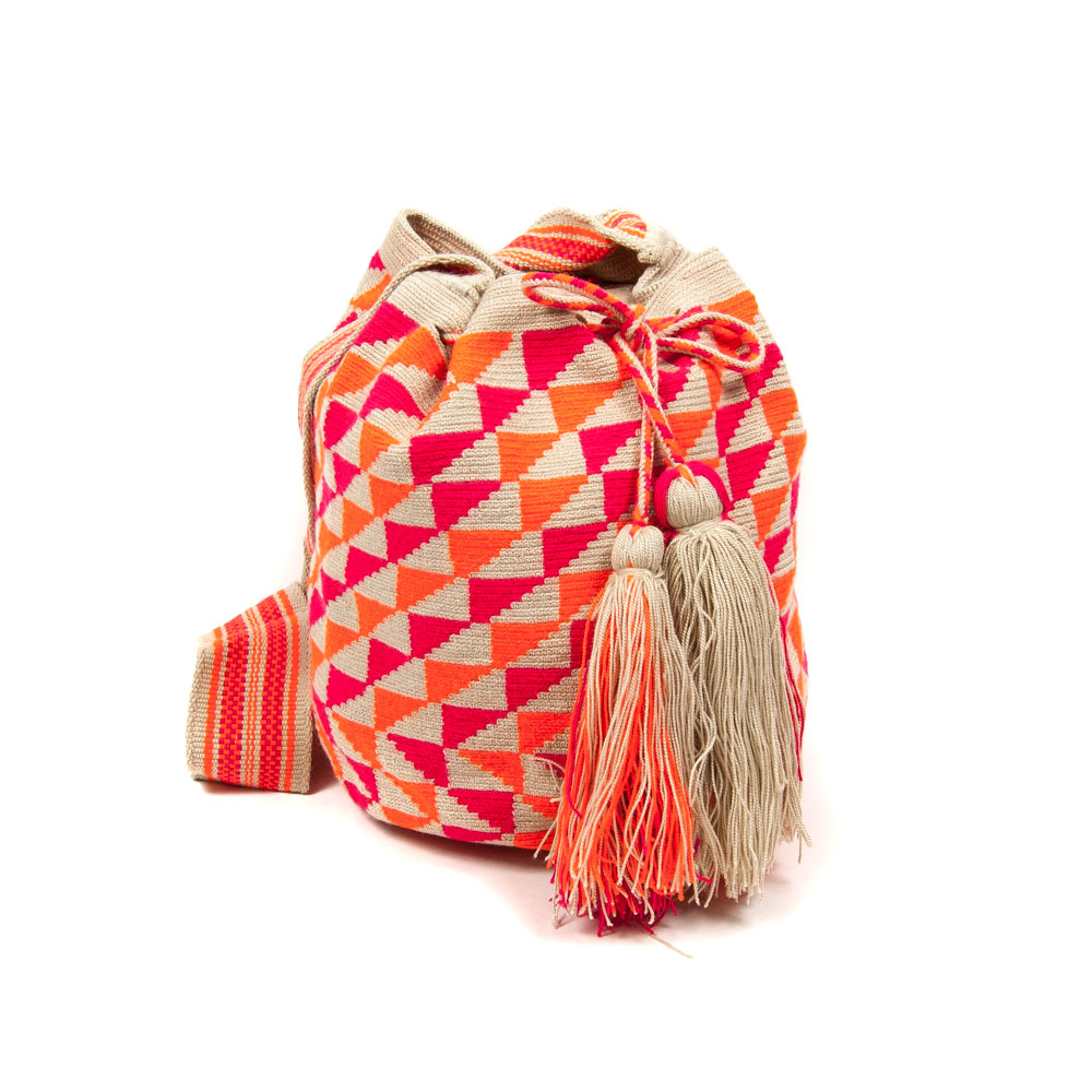 GUANABANAS celebration of the artistry of a select Columbian tribe. These unique bags can take up to 3 weeks to make using a single thread technique. The perfect travel essential! £65 - £195, Eclectic