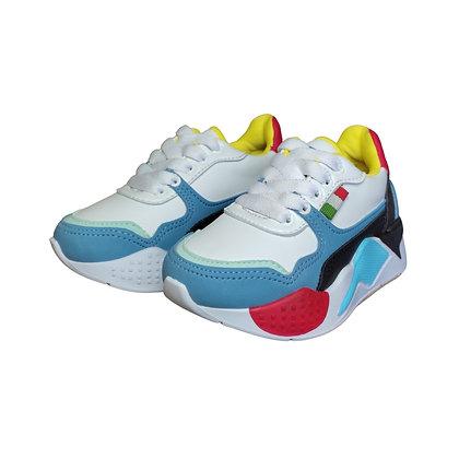 Zapatos Tenis Para Niños Tetris FK Sintético Azul Claro