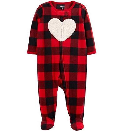 Pijama Corazón Roja Negra
