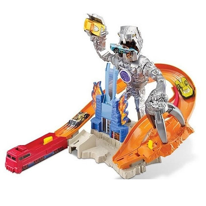 Pista De Carros Robot Destructor Hotwheels