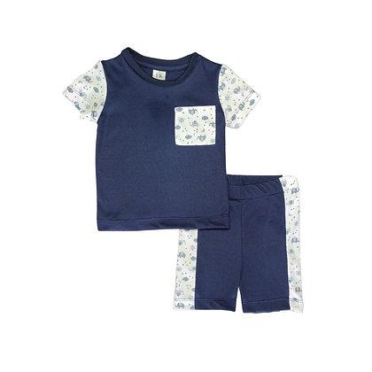 Pijamas Excelente Calidad Fk Short Elefante Azul