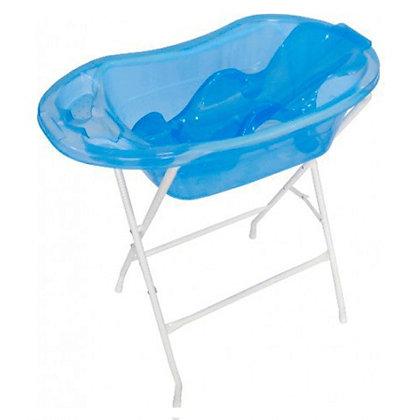 Bañera Traslucida Con Soporte Y Base Azul