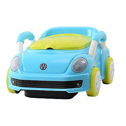 Vasenilla Mica Potty Diseño Carro Bebe Azul