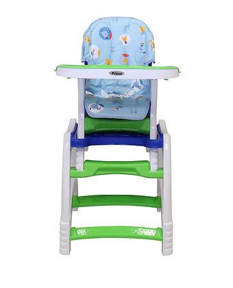Silla Comedor Para Bebé Escritorio 2 En 1 Azul Verde