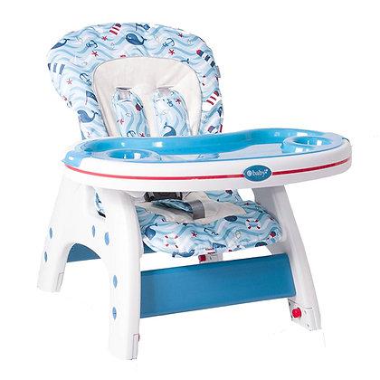 Mesa Silla Comedor Para Bebé 2 En 1 Tipo Escritorio Ebaby Azul