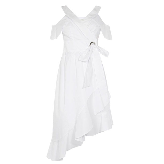 Inspiration? Nurses and nuns SOFT WRAP DRESS £100, COAST AT DE GRUCHY