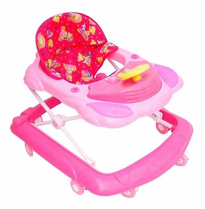 Caminador Andadera Para Bebes Buggy Luces Sonido Bebe Rosado