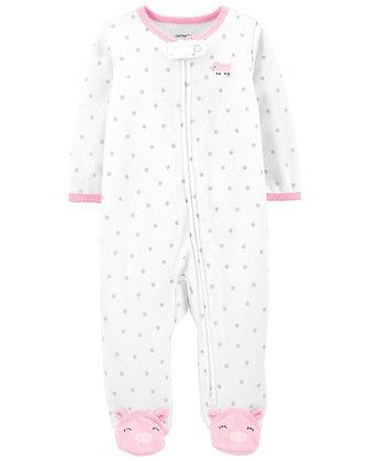 Pijama Carters Conejo Puntos Rosas