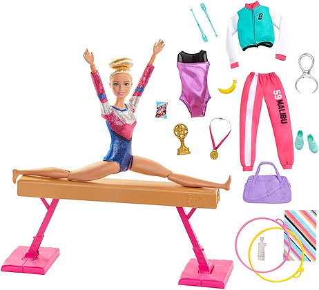 Barbie Olimpiadas Gimnasta Barra De Equilibrios Articulada