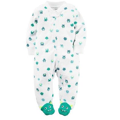 Pijama Blanca Monstruo Turquesa Carters
