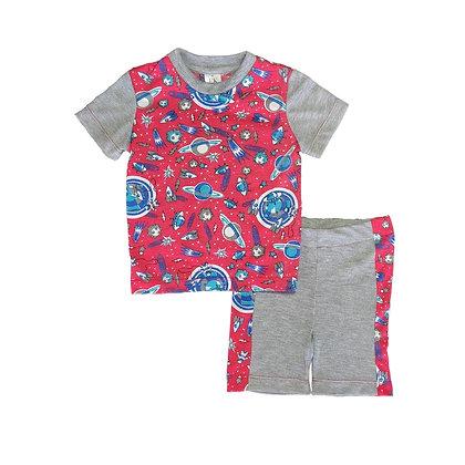 Pijamas Excelente Calidad FK Short Espacio Roja