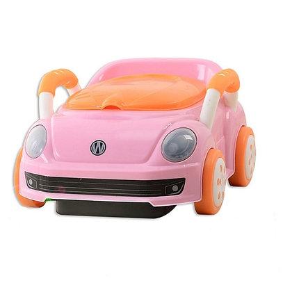 Vasenilla Mica Potty Diseño Carro Bebe Rosado