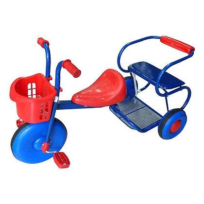 Triciclo Bambino Dos Puestos Rojo Con Azul