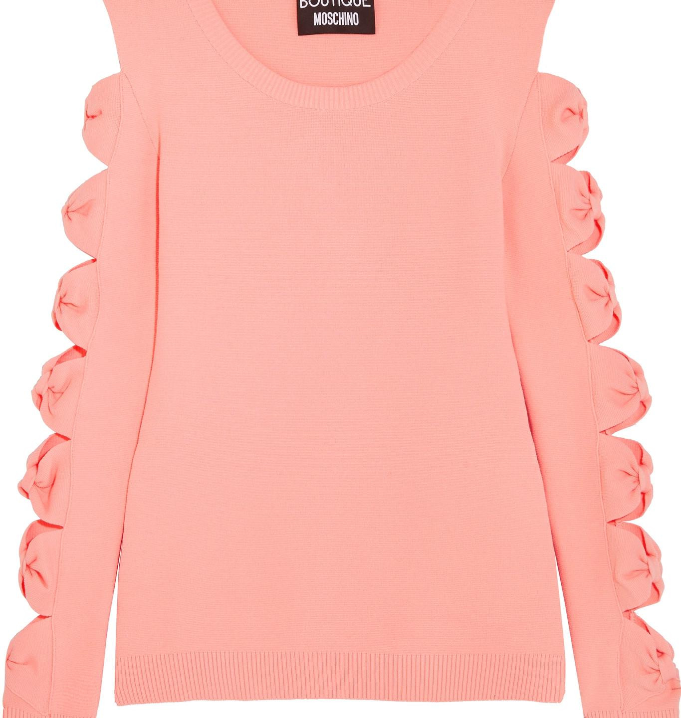 Now you see me, now you don't CUT OUT BOW DETAIL JUMPER £276, BOUTIQUE MOSCHINO AT VOISINS