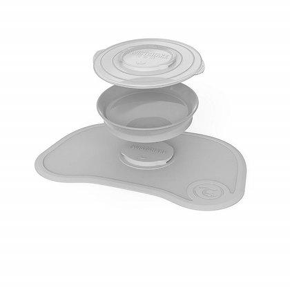 Kit Mantel + Plato En Silicona Twistshake Gris