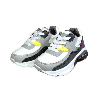 Zapatos Tenis Para Niños Válvula Blanco Amarillo FK