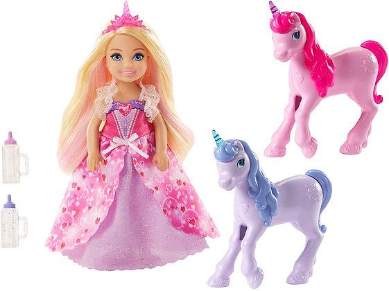 Barbie Dreamtopia Chelsea Y Unicornios Original Mattel