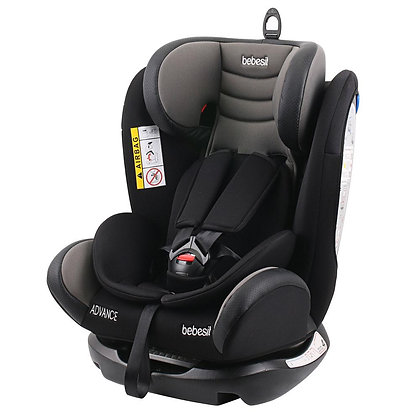 Silla Carro Auto Bebe Advanced Bebesit 0m-10años Reclinable Gris