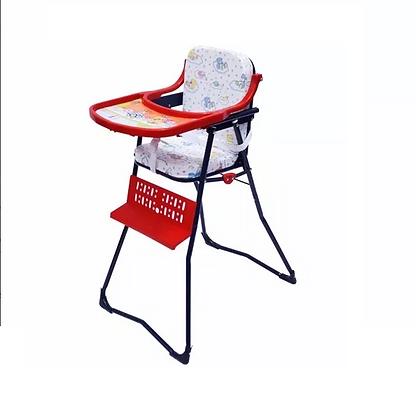 Silla Comedor Bebe Plegable Azul Rojo
