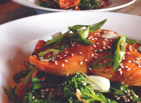 Spring recipes: Teriyaki Salmon and Stir-fried Vegetables