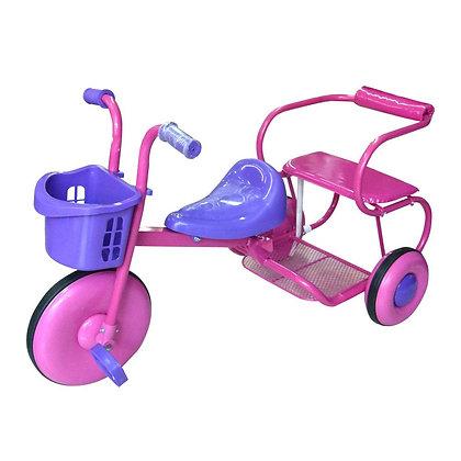 Triciclo Doble Rosado