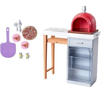 Barbie Accesorios Horno De Pizza Muñecas Muebles De Exterior